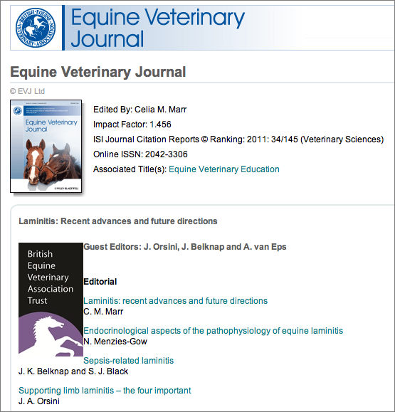 Equine Studies reasurch paper